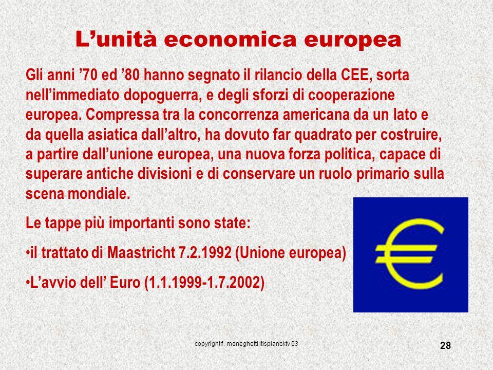 L'unità economica europea