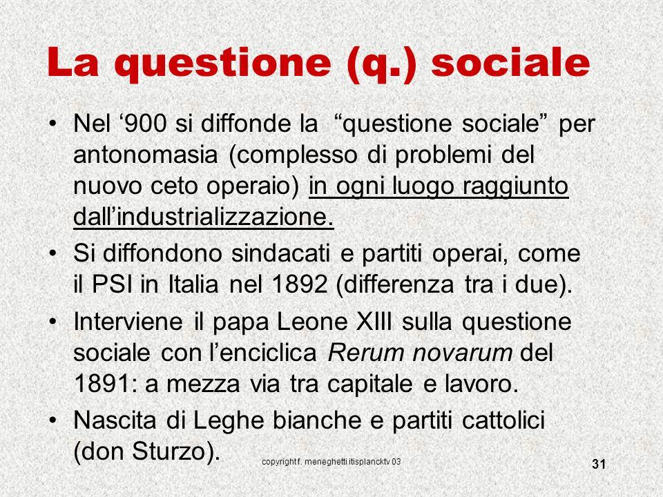La questione (q.) sociale
