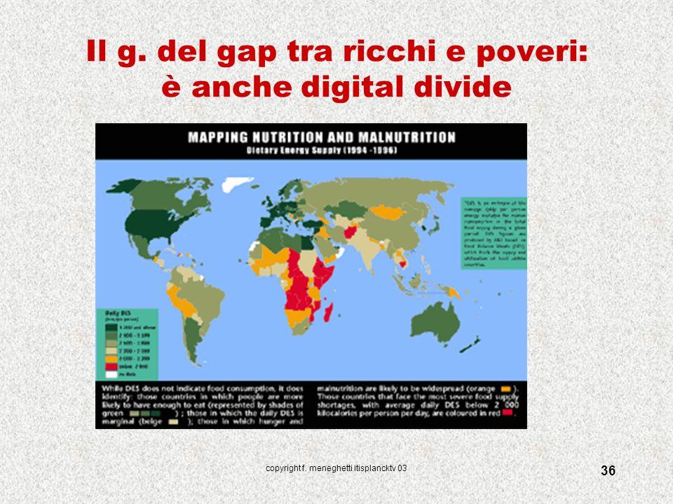 Il g. del gap tra ricchi e poveri: è anche digital divide