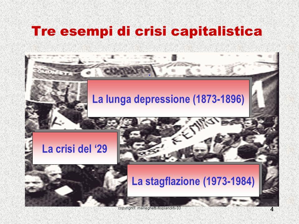 Tre esempi di crisi capitalistica