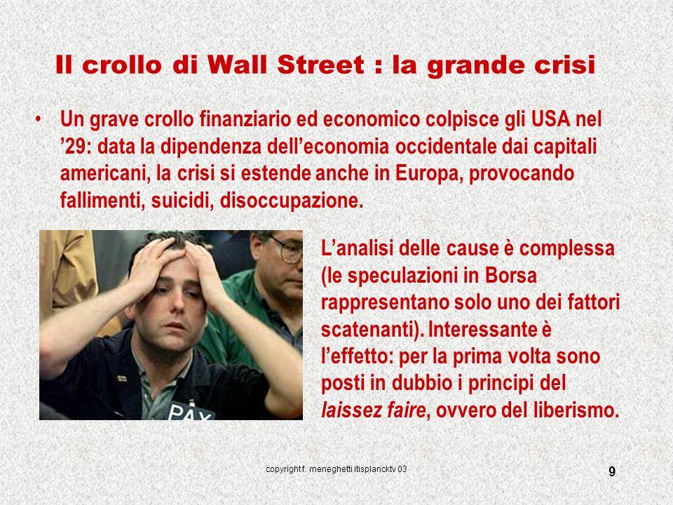 Il crollo di Wall Street : la grande crisi