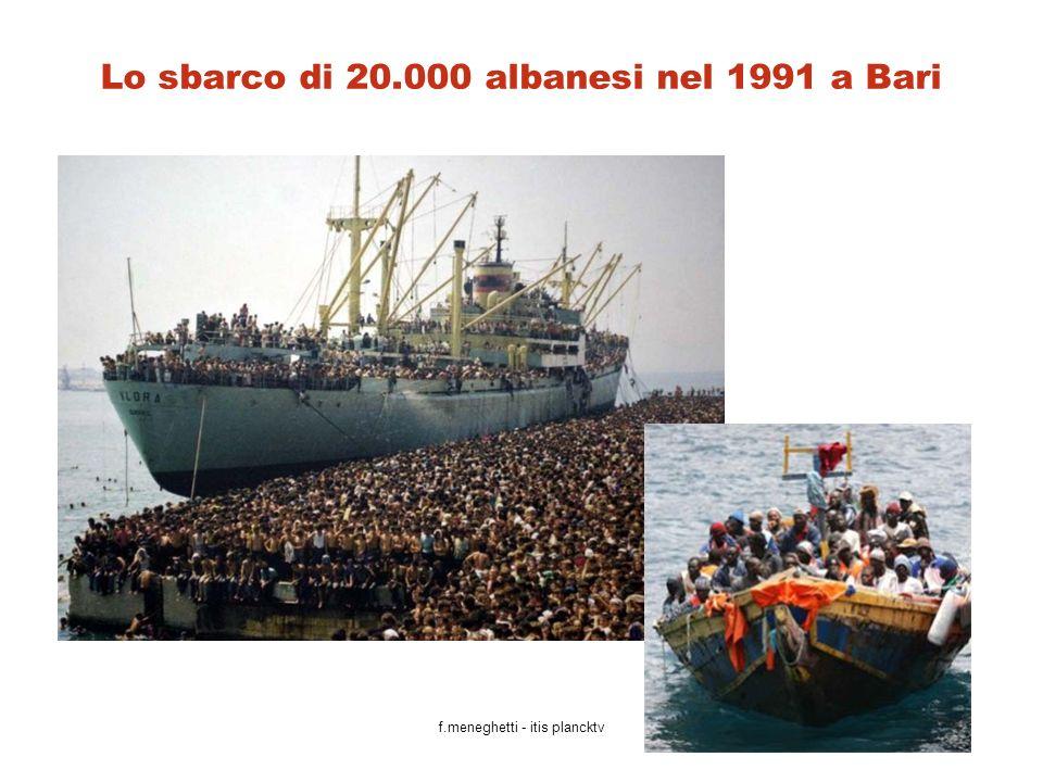Lo sbarco di 20.000 albanesi nel 1991 a Bari