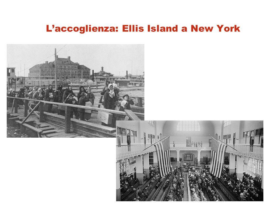 L'accoglienza: Ellis Island a New York