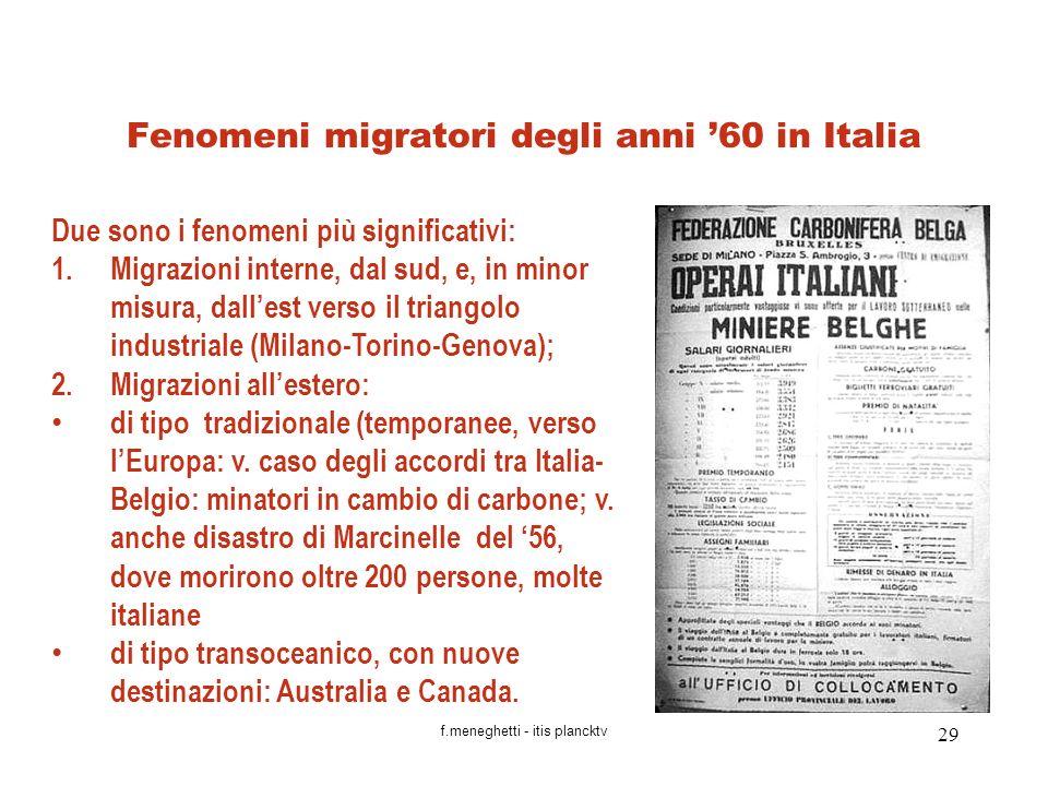 Fenomeni migratori degli anni '60 in Italia