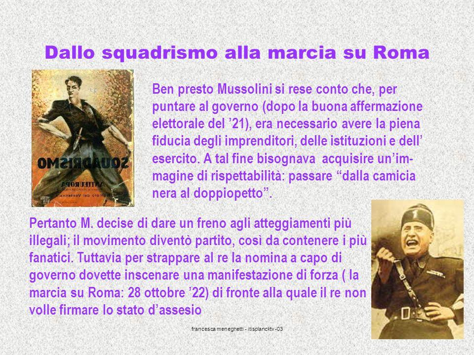 Dallo squadrismo alla marcia su Roma