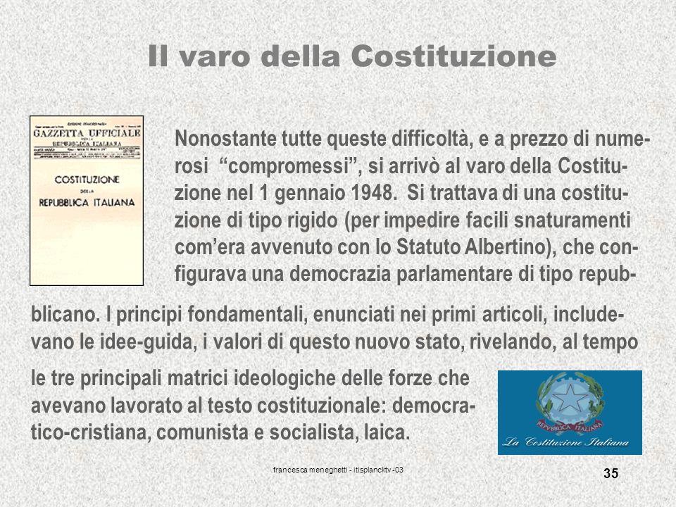 Il varo della Costituzione