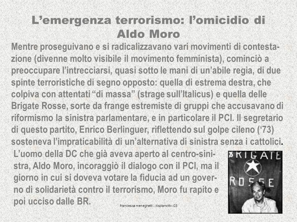 L'emergenza terrorismo: l'omicidio di Aldo Moro