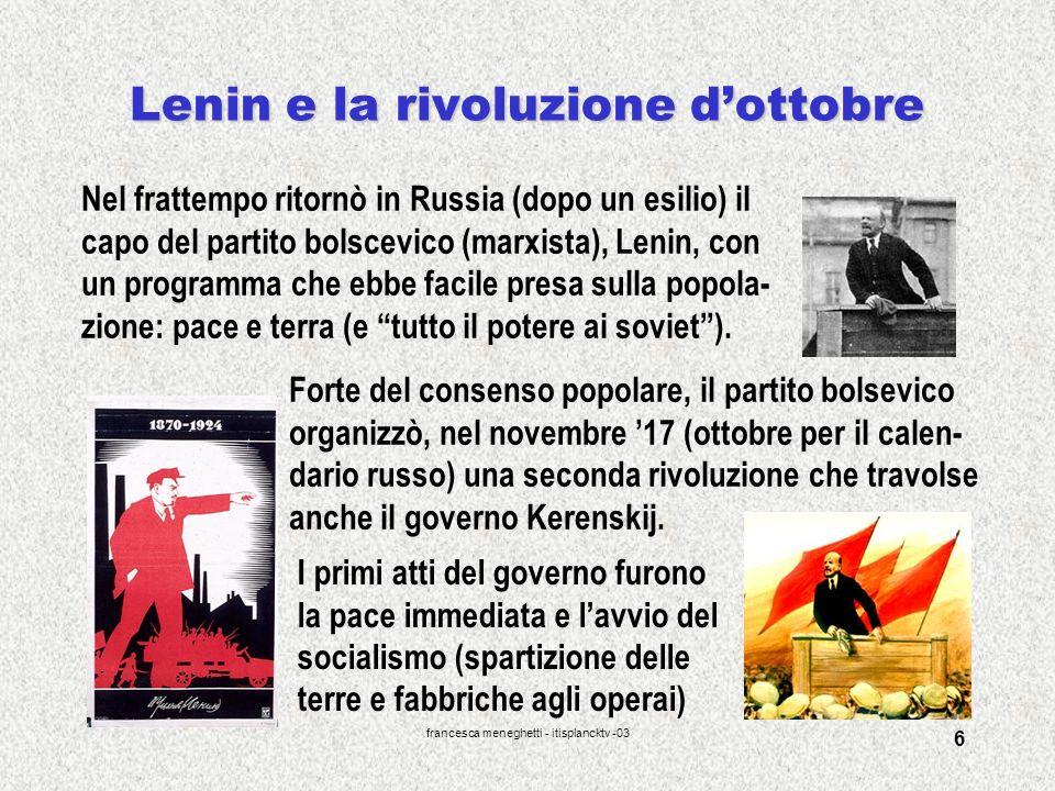 Lenin e la rivoluzione d'ottobre