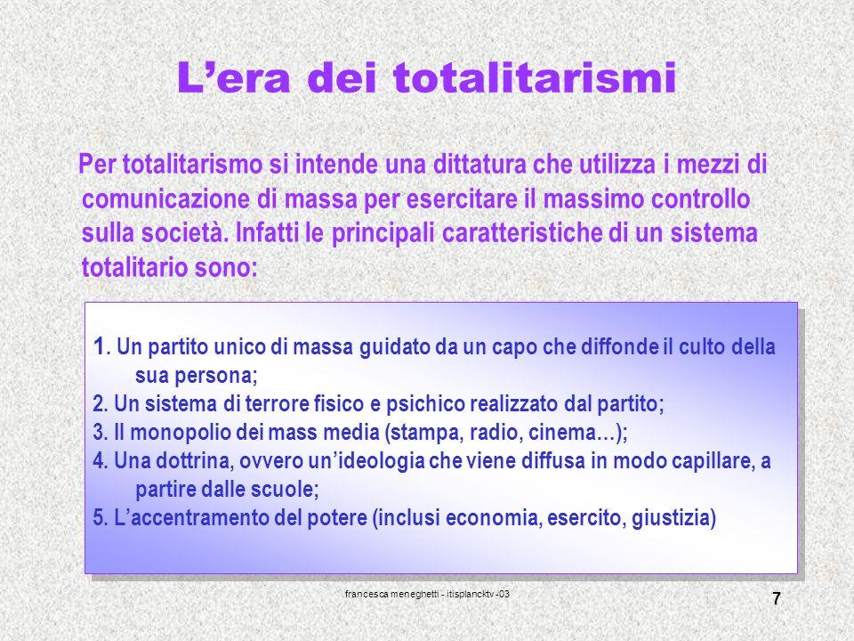 L'era dei totalitarismi