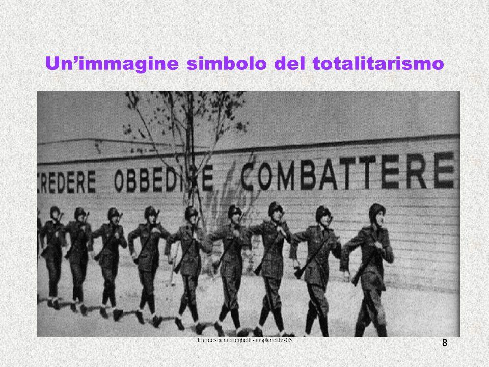Un'immagine simbolo del totalitarismo