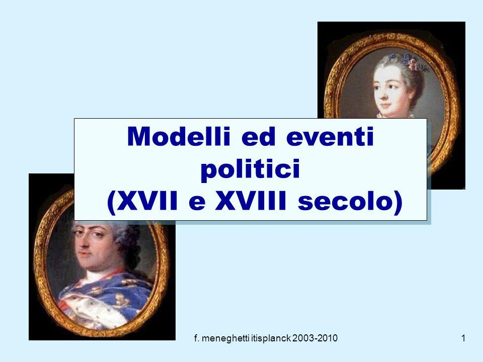 Modelli ed eventi politici (XVII e XVIII secolo)