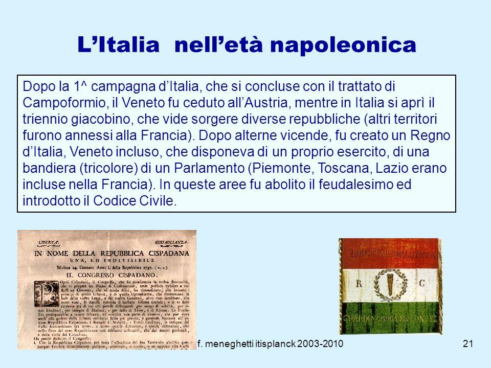 L'Italia nell'età napoleonica