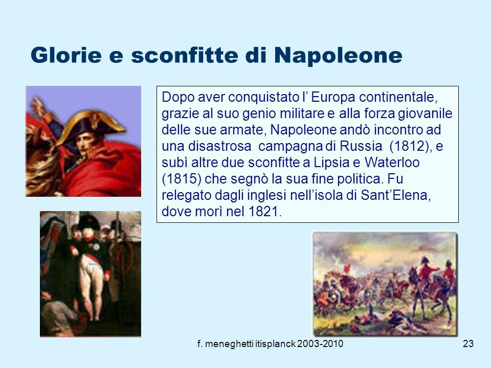 Glorie e sconfitte di Napoleone
