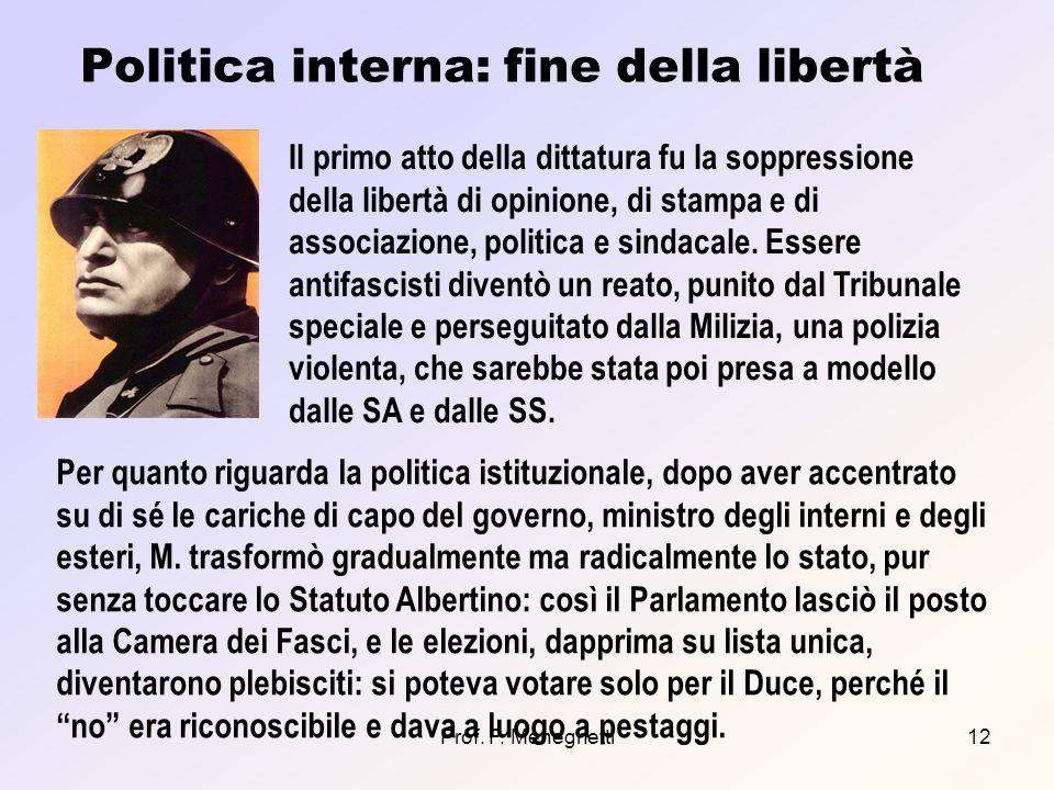Politica interna: fine della libertà