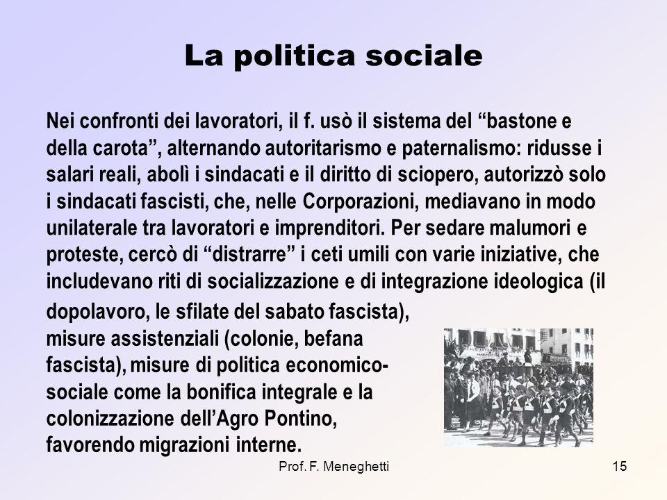 La politica sociale