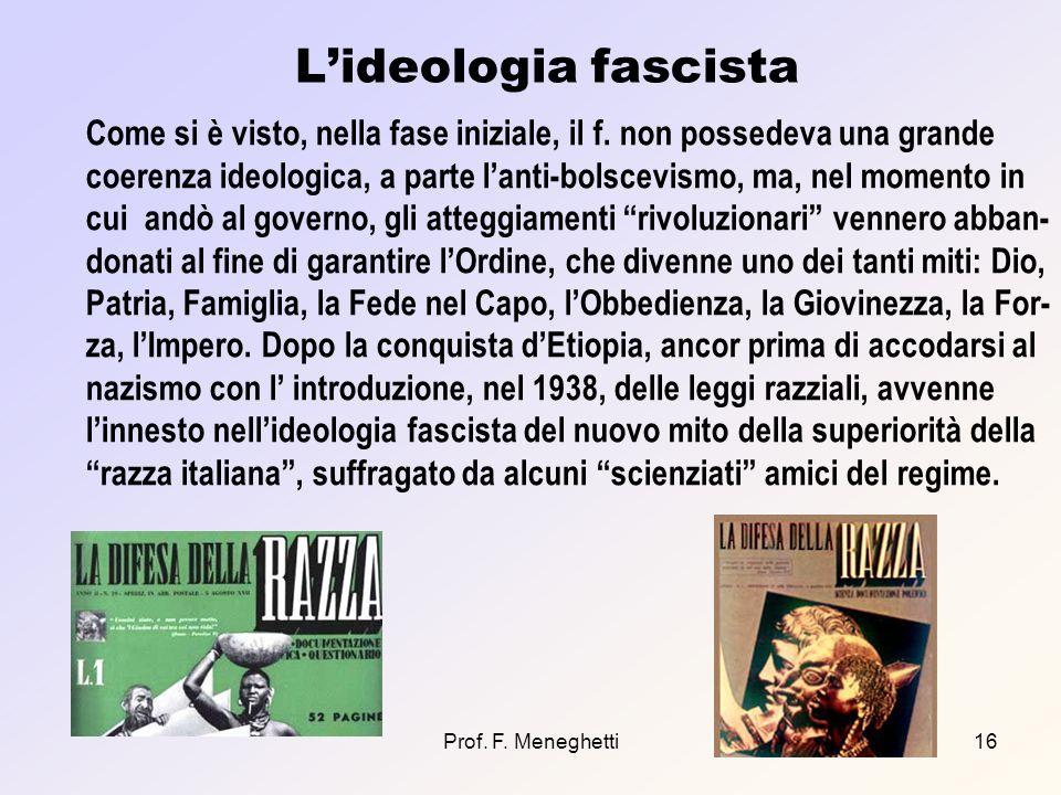 L'ideologia fascista