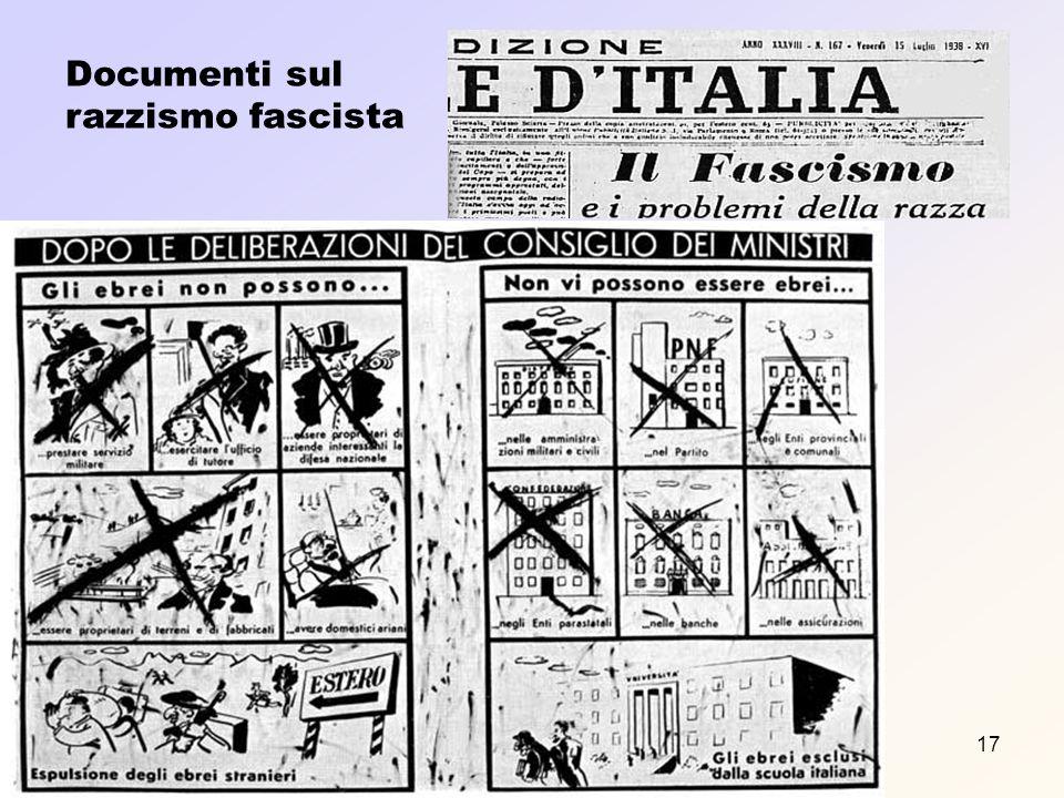 Documenti sul razzismo fascista