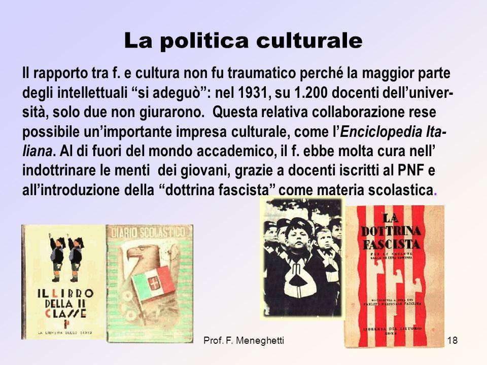La politica culturale