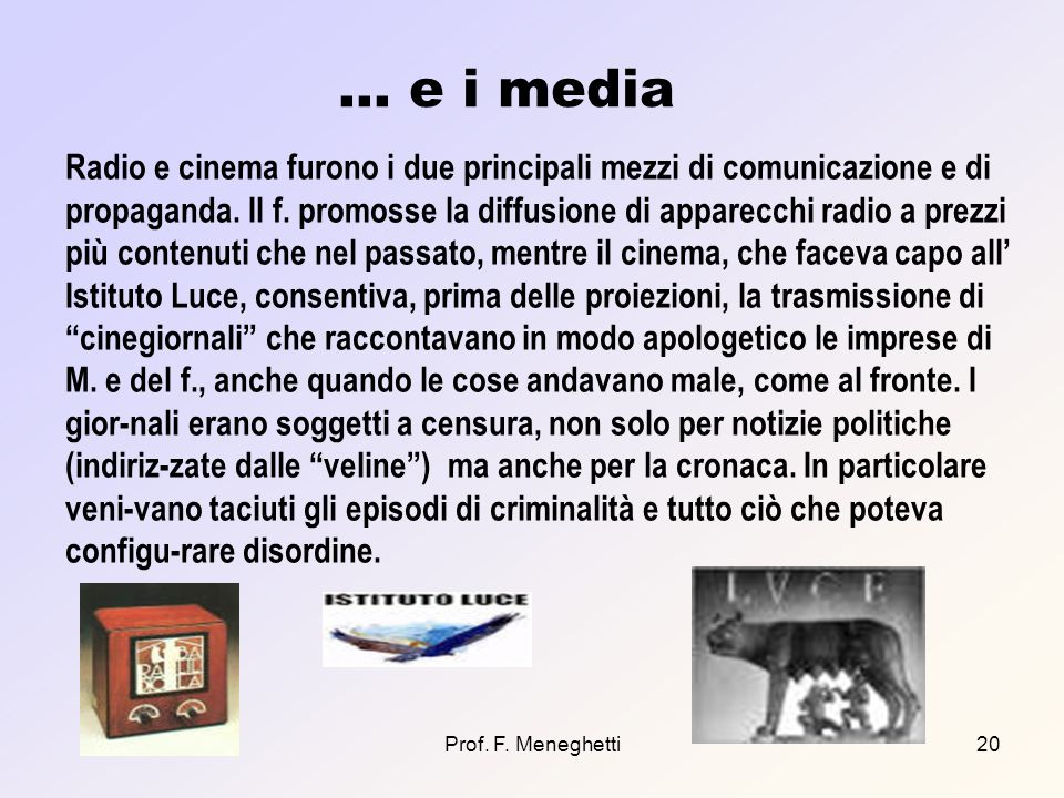 … e i media