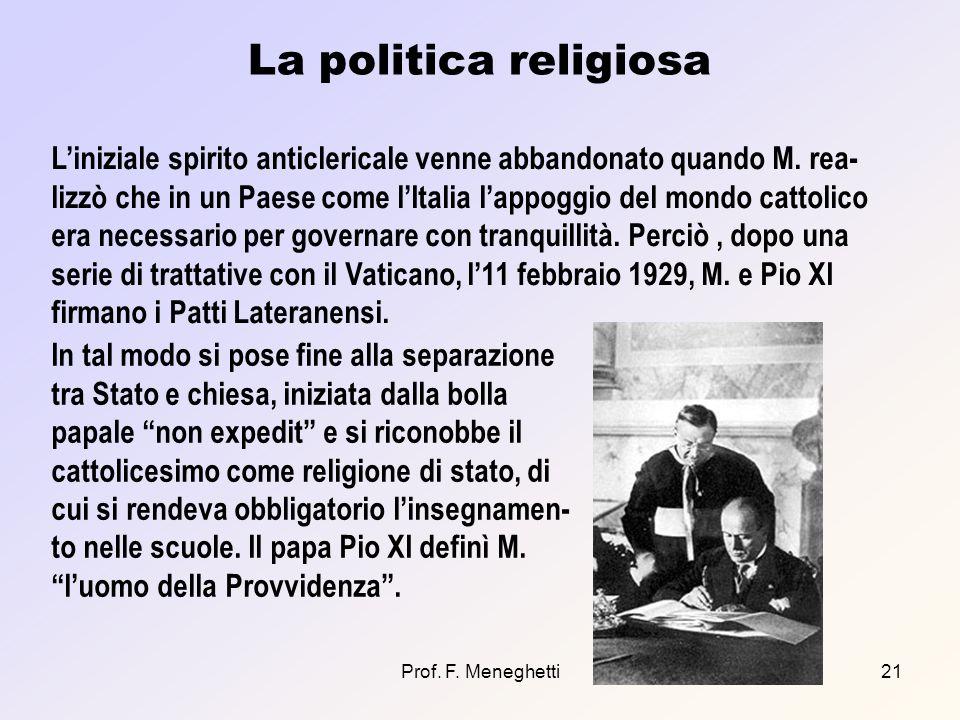 La politica religiosa