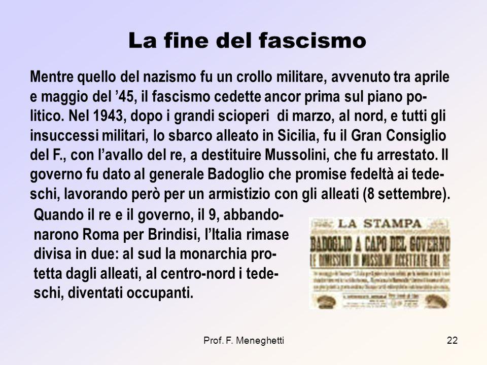 La fine del fascismo