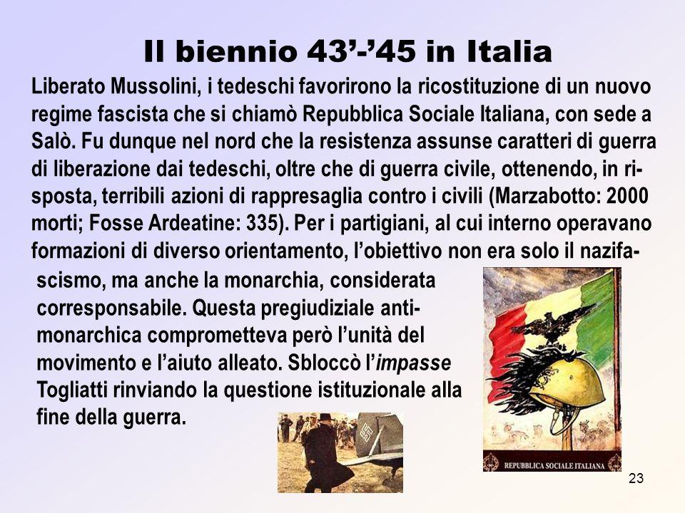 Il biennio 43'-'45 in Italia