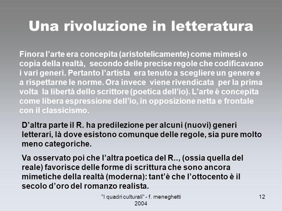 Una rivoluzione in letteratura