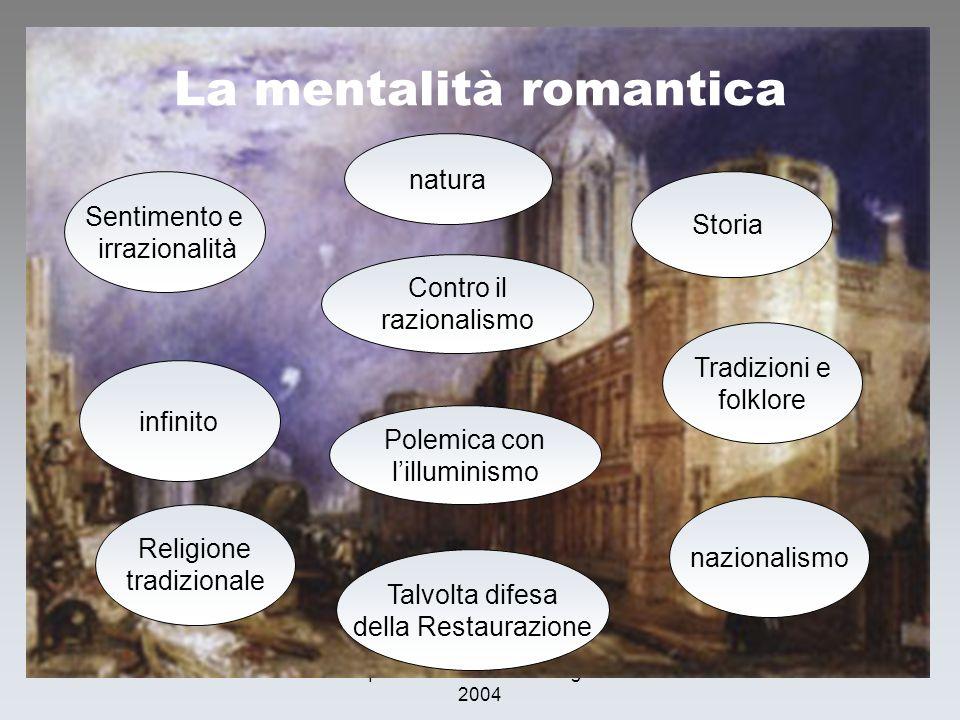 La mentalità romantica