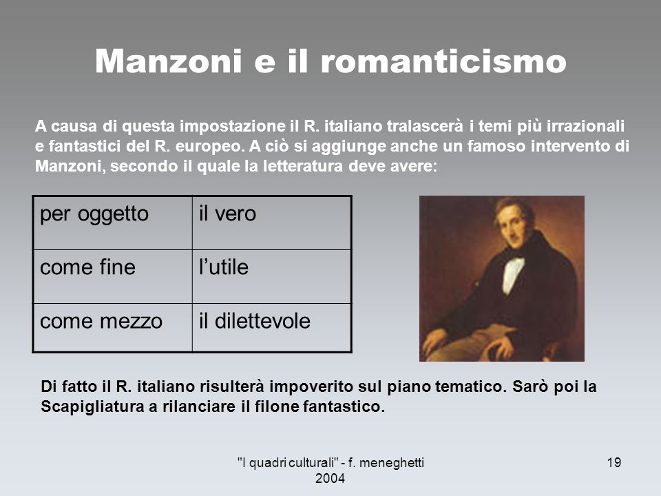 Manzoni e il romanticismo