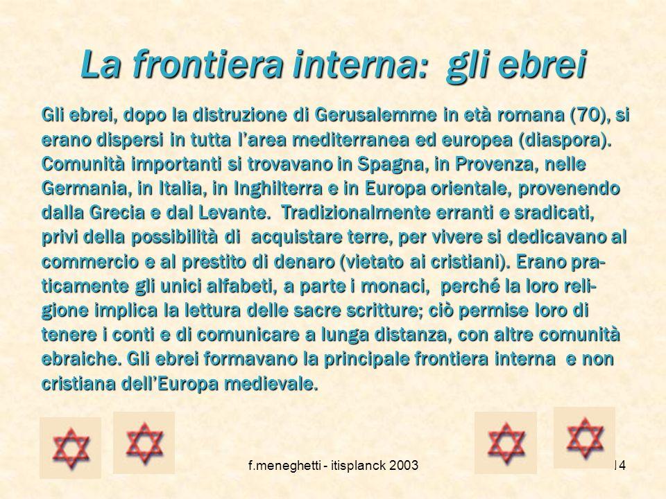 La frontiera interna: gli ebrei