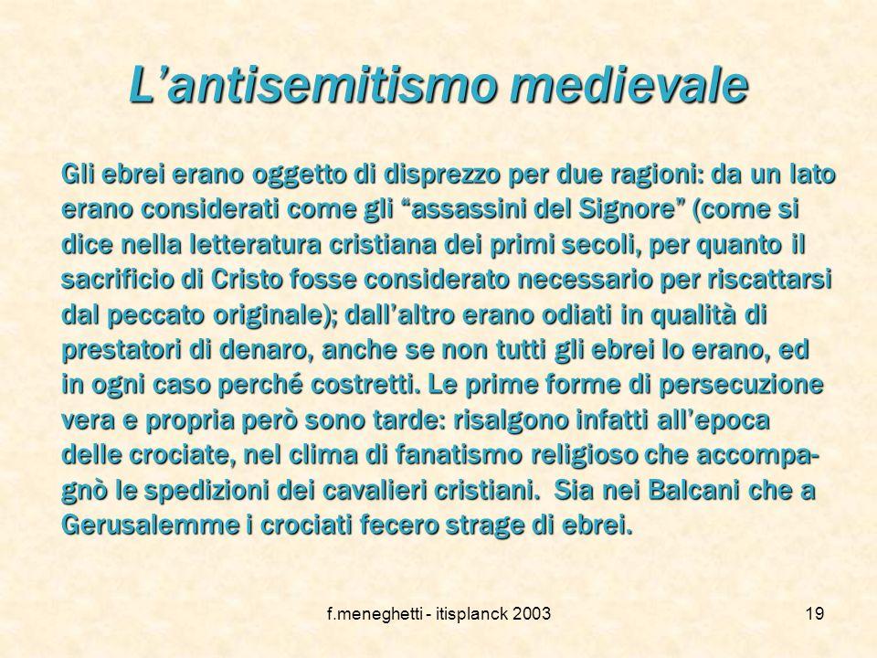 L'antisemitismo medievale