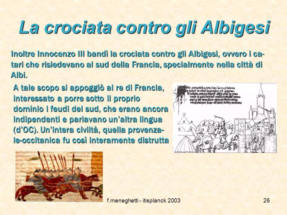 La crociata contro gli Albigesi