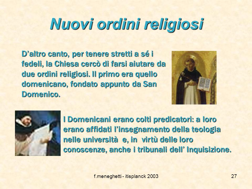Nuovi ordini religiosi