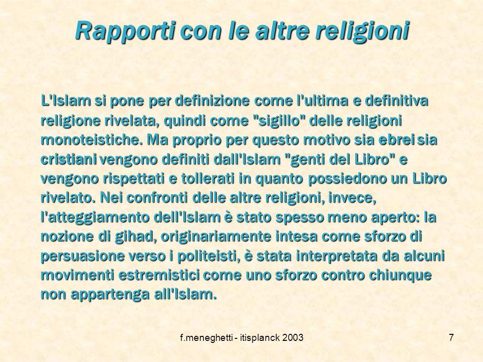 Rapporti con le altre religioni