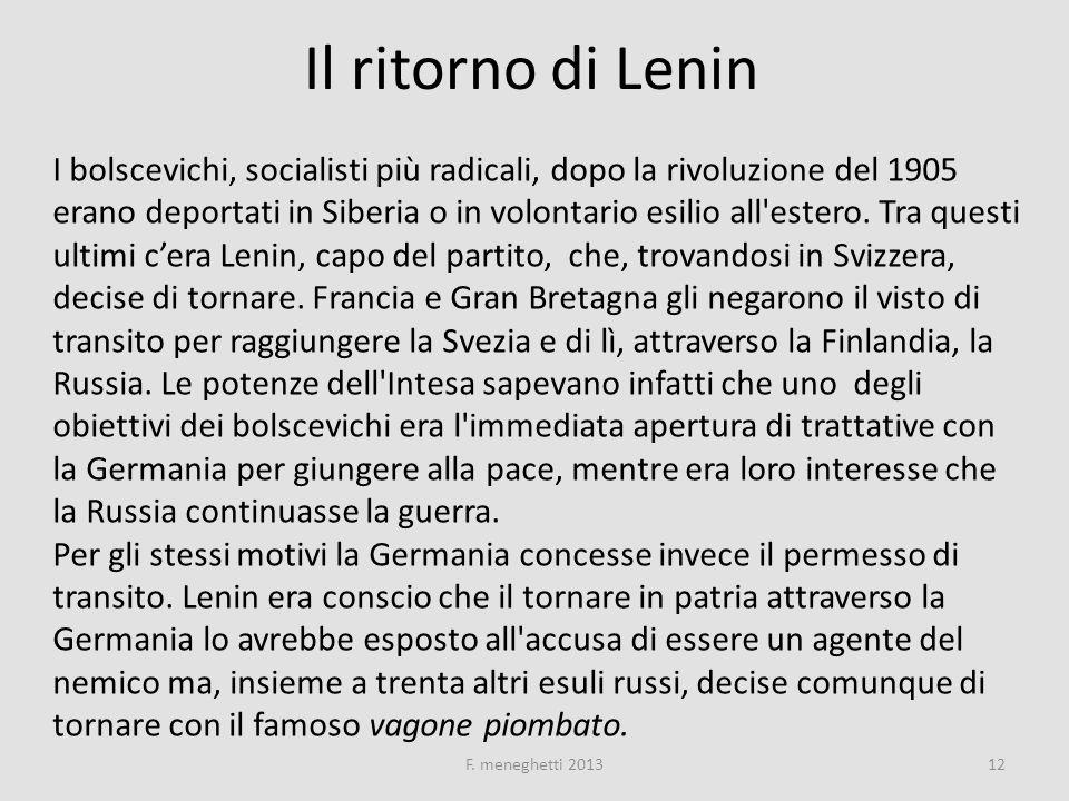 Il ritorno di Lenin
