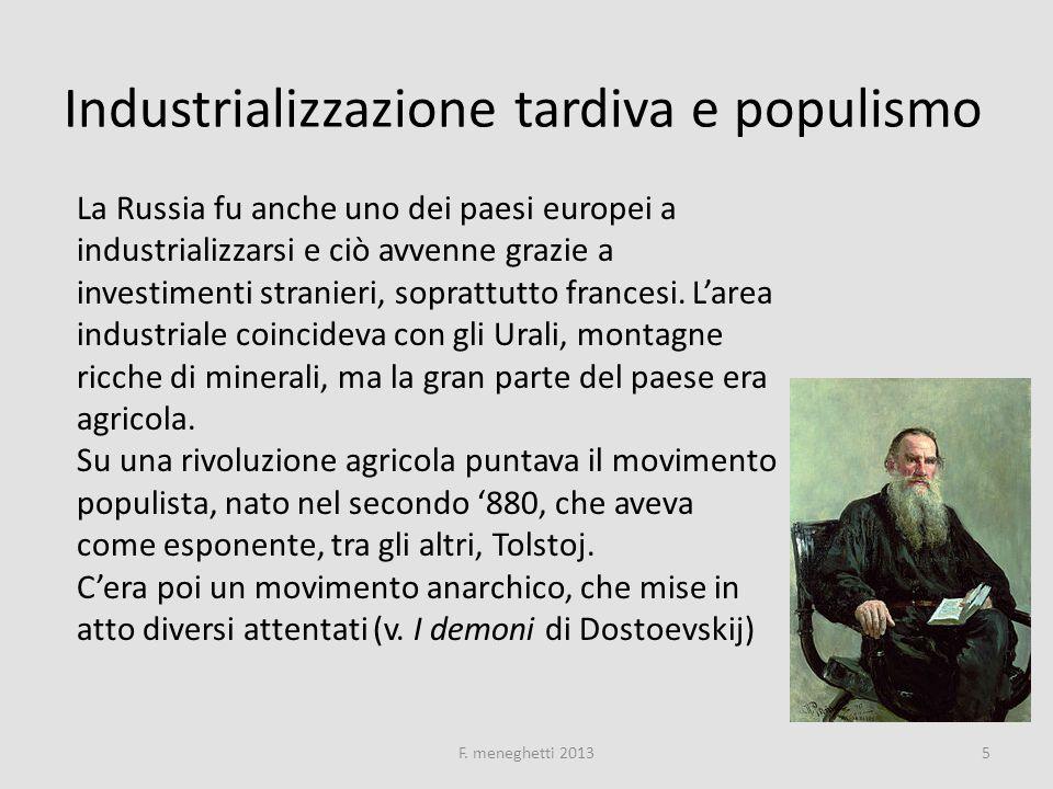 Industrializzazione tardiva e populismo