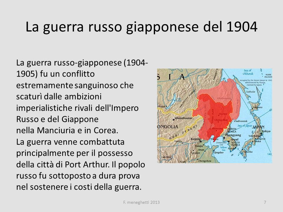 La guerra russo giapponese del 1904