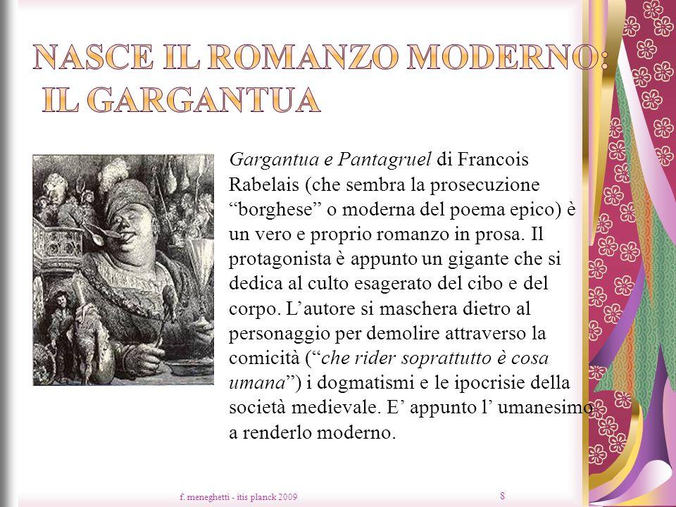 Nasce il romanzo moderno: il Gargantua