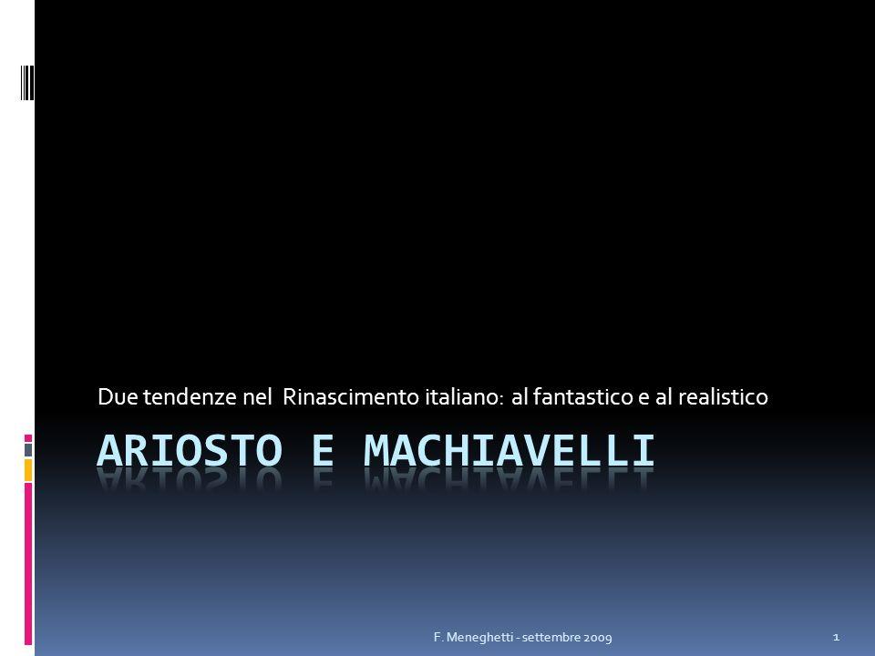 Due tendenze nel Rinascimento italiano: al fantastico e al realistico