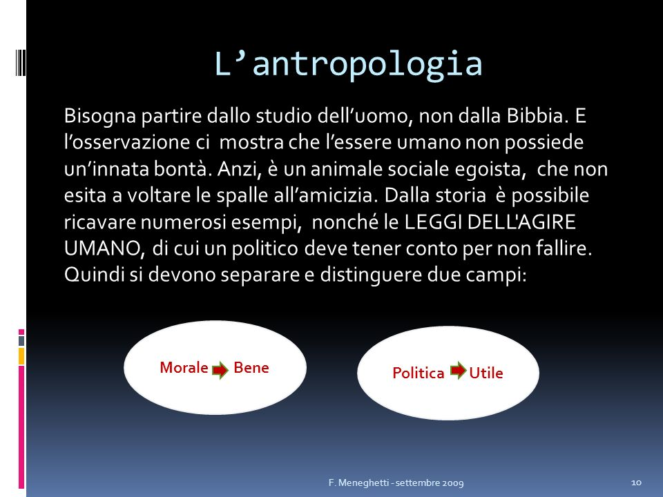 L'antropologia
