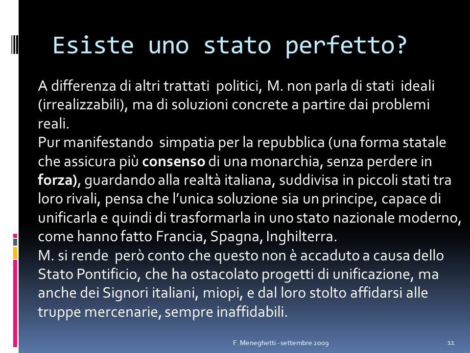 Esiste uno stato perfetto