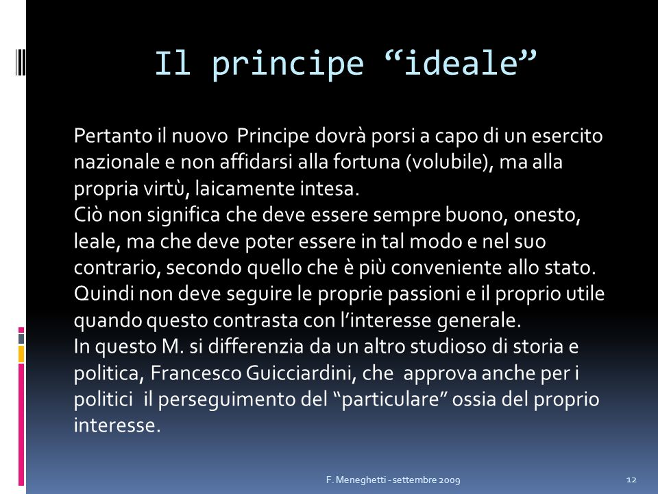 Il principe ideale