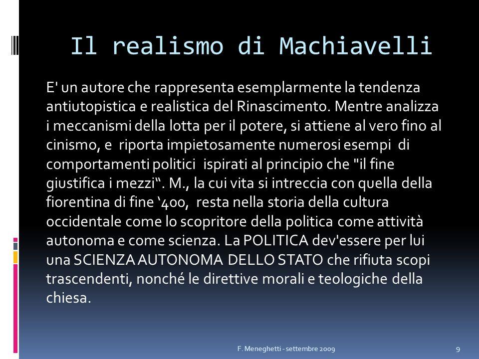Il realismo di Machiavelli