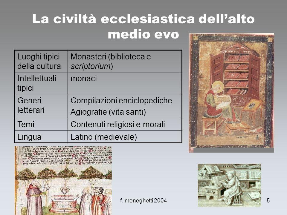 La civiltà ecclesiastica dell'alto medio evo