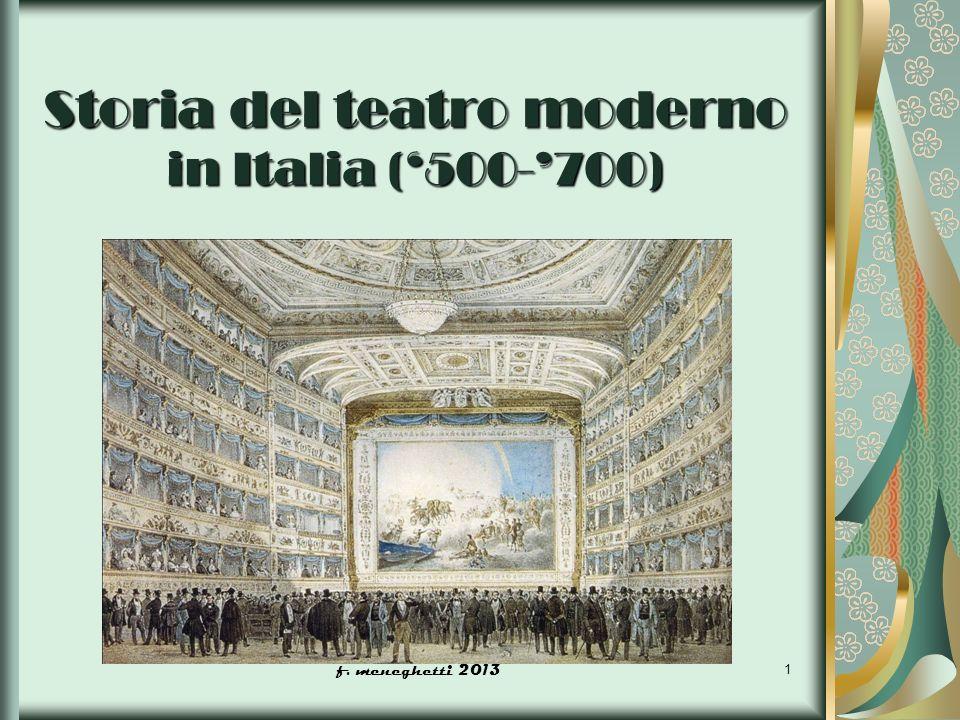 Storia del teatro moderno in Italia ('500-'700)