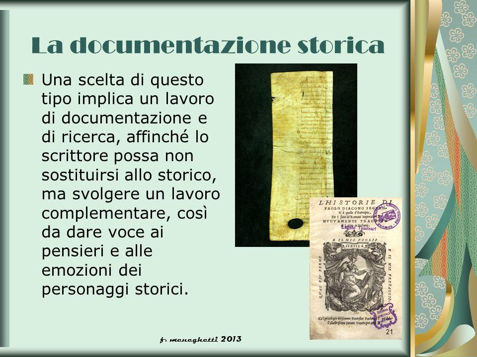 La documentazione storica