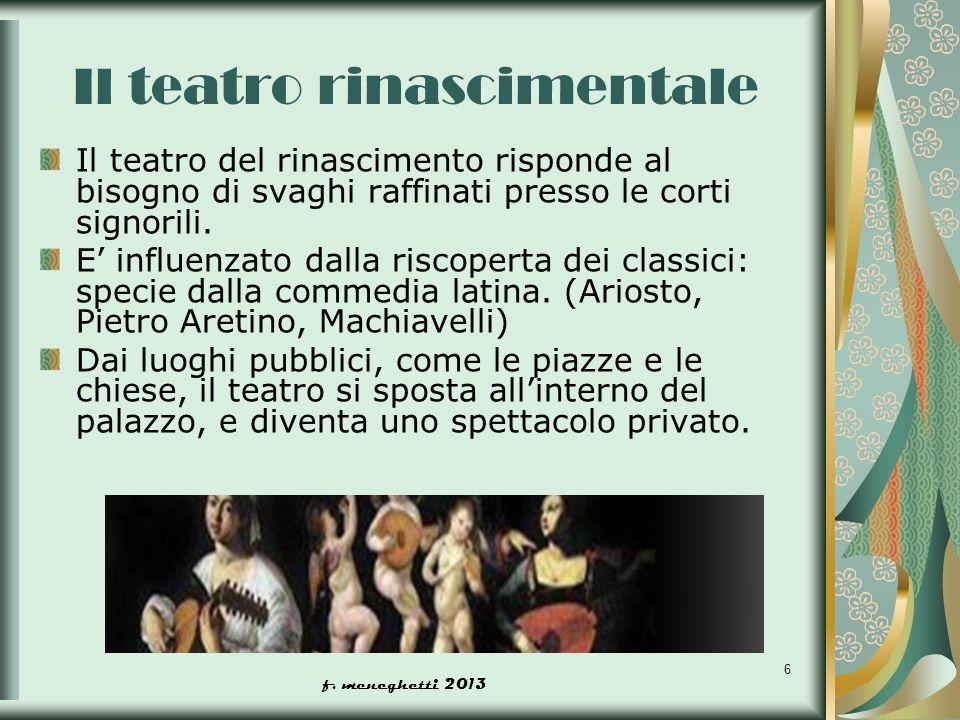 Il teatro rinascimentale
