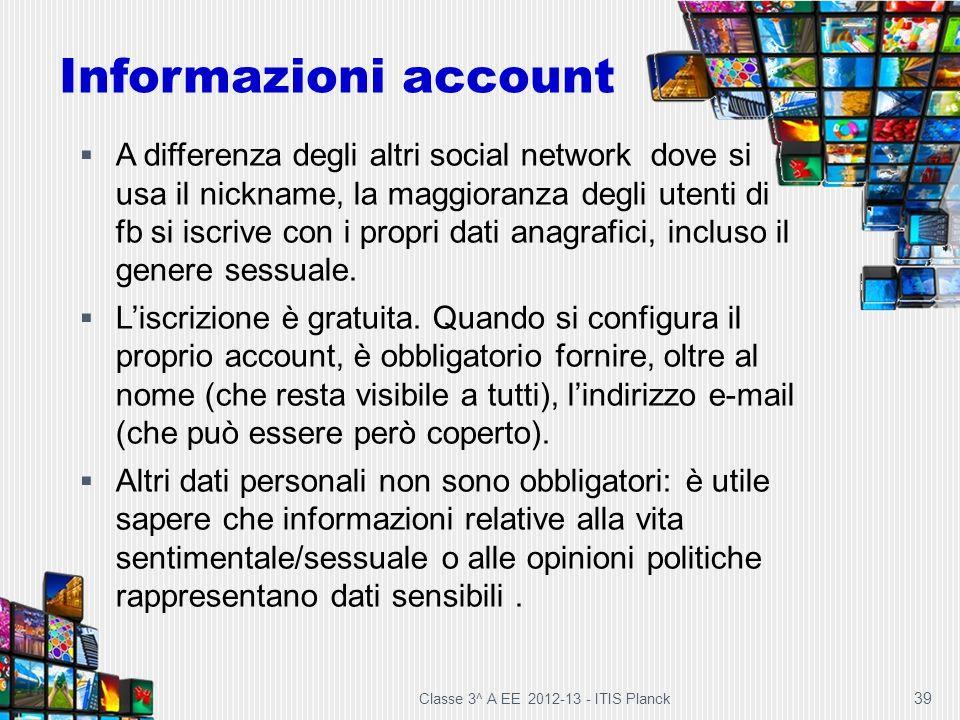 Informazioni account
