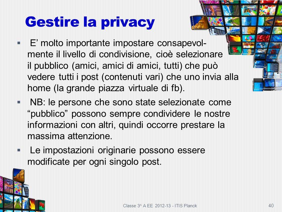 Gestire la privacy