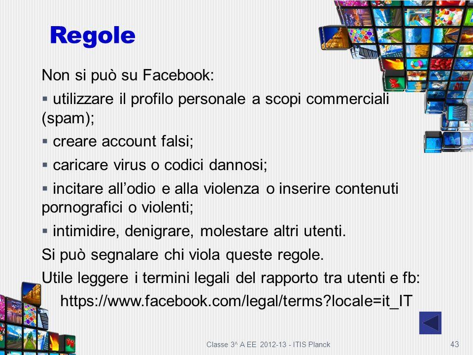 Regole Non si può su Facebook: